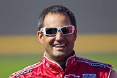 DAYTONA BEACH, FL - FEB 13: Juan Pablo Montoya (42) waits to qualify for the Daytona 500  race at th