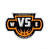Basketball, Vs, Sports Logo, Emblem. Vector Illustration. poster