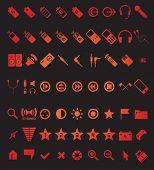 conjunto de iconos de los medios de comunicación y web 63