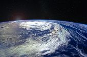 Hurricane Florence Over The Atlantics Close To The Us Coast, Viewed From The Space Station. Gaping E poster