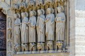 Details Of Facade Of Cathedral Of Notre Dame De Paris (built In 1163-1345 Years), Paris, France poster
