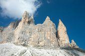 drei Zinnen, die drei Gipfel in den Dolomiten