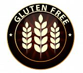Gluten free food packaging sign