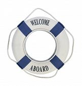Welcome Aboard Life Preserver