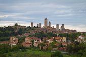 Skyline von Gimignano, Toskana, Italien