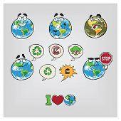 Cartoon illustration Earth