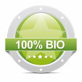 100% Bio Button