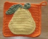 Crochet Potholder with Pear