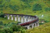 Glenfinnan Viaduct In Green Anbiance