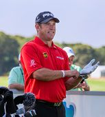 Lee Westwood At The 2012 Barclays