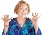 Frightened Senior Female