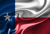 foto of texas flag  - Texan flag waving in the wind with some folds - JPG