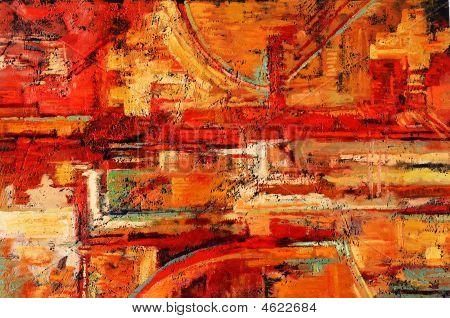 Постер, плакат: Абстрактная живопись, холст на подрамнике