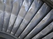 Old Power Generator Steam Turbine Blades During Repair Process