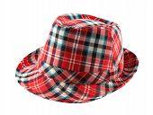 Red Tartan Fedora Hat