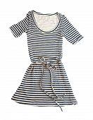 Striped Belted T-shirt Dress