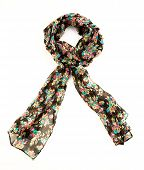 Flowery Black Neckerchief