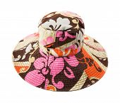 Flowery Multicolor Pattern Floppy Hat