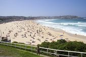 Bondi Beach, Australia - Mar 16Th: People Relaxing On The Beach On March 16Th 2013. Bondi Is One Of