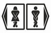 stock photo of female toilet  - Toilet symbols for men and women in vector - JPG