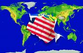 Fist In Color  National Flag Of Liberia    Punching World Map