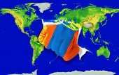 Fist In Color  National Flag Of Mongolia    Punching World Map