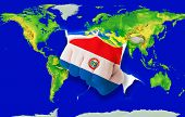 Fist In Color  National Flag Of Paraguay    Punching World Map