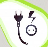Plug- And -Socket. Retro-stijl embleem, pictogram, Pictogram. EPS-10 Vector