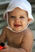 Baby With White Hat