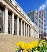 stock photo of amtrak  - James Farley Post Office April  in New York - JPG