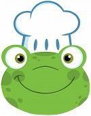 Frog Smiling Head With Chef Hat