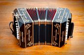 stock photo of aerophone  - Bandoneon traditional musical instrument for argentinean tango - JPG