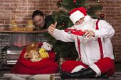 Santa Claus Played With Toys