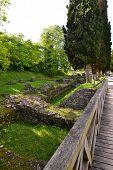 Antigas ruínas romanas
