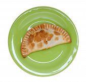 Empanada, Meat Pie On White Background