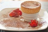 Yummy Souffle with Strawberries