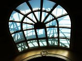 stock photo of boise  - This skylight window displays an interesting pattern of sunshine and shadows at the Idaho State capitol building in Boise - JPG
