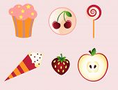 birthday sweet desert icons
