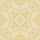 Vintage kaleidoscope background. Seamless pattern can be used for retro wallpaper, pattern fills, we