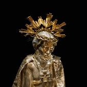 Jesus Gold Sculpture