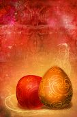 Figured  Patterns  Easter  Background