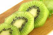 Kiwifruit Slices Into Pieces.