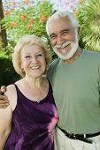 Closeup portrait of a happy senior couple
