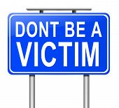 stock photo of fool  - Illustration depicting a sign with a victim concept - JPG