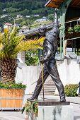 Freddie Mercury Statue In Montreux, Switzerland