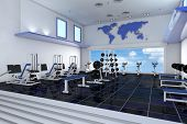 Modernen leer-Fitness-Center in einem Health club