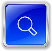 Magnifier Icon On Blue Button