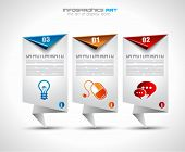 Infographic design template with paper tags. Ideal to display information, ranking and statistics wi
