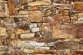 foto of shale  - Photo of an old shale wall texture - JPG