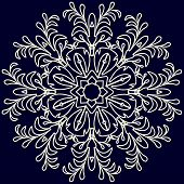 Beautiful lace pattern. The circular background. Vector illustration/